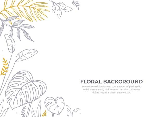 Ręcznie rysowane kwiatowe tło
