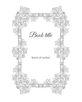 Ręcznie rysowane kwiatowy koncepcja okładki książki