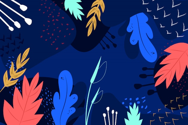 Ręcznie rysowane kwiatowy streszczenie tło