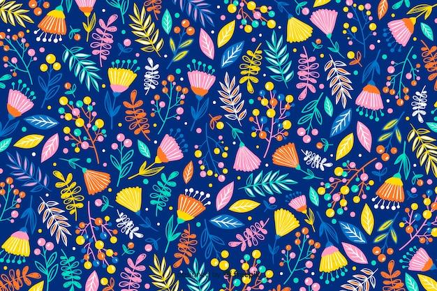 Ręcznie rysowane kwiatowy wzór tła
