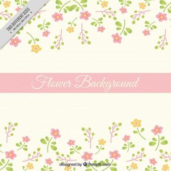 Ręcznie rysowane kwiaty niewiele cute tła