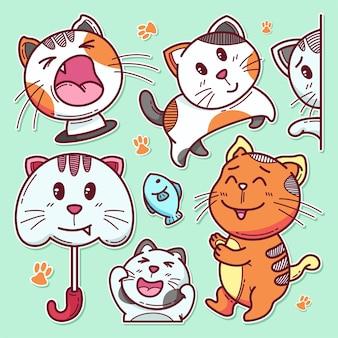 Ręcznie rysowane ładny kot