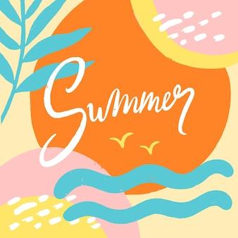 Ręcznie rysowane lato napis