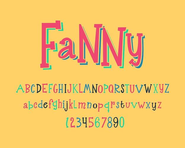 Ręcznie rysowane literą alfabetu. szablon projektu czcionki