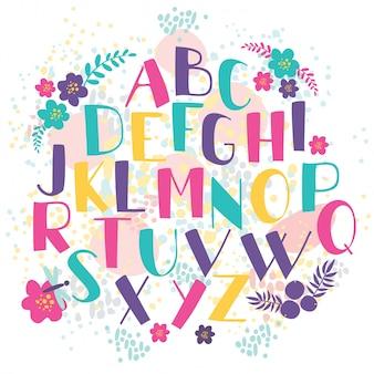 Ręcznie rysowane litery