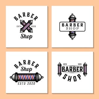 Ręcznie rysowane logo fryzjera