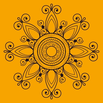 Ręcznie rysowane mandali