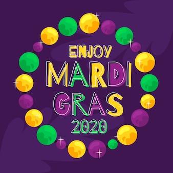 Ręcznie rysowane mardi gras festival