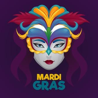 Ręcznie rysowane mardi gras