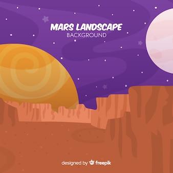 Ręcznie rysowane mars krajobraz tła