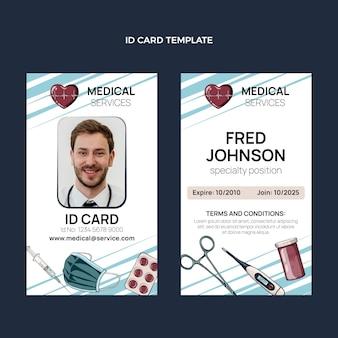 Ręcznie rysowane medyczna karta identyfikacyjna