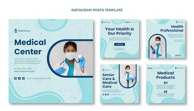 Ręcznie rysowane medyczny post na instagramie