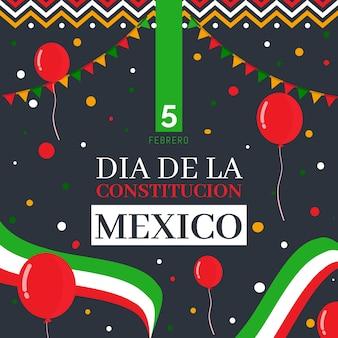 Ręcznie rysowane meksykański dzień konstytucji