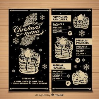 Ręcznie rysowane menu świąteczne