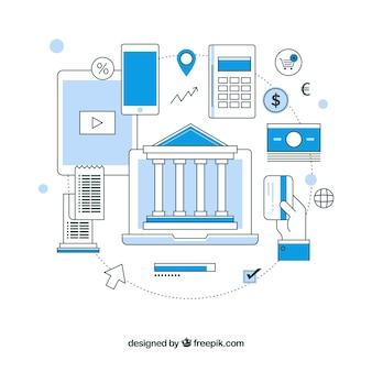 Ręcznie rysowane metody płatności w nowoczesnym stylu