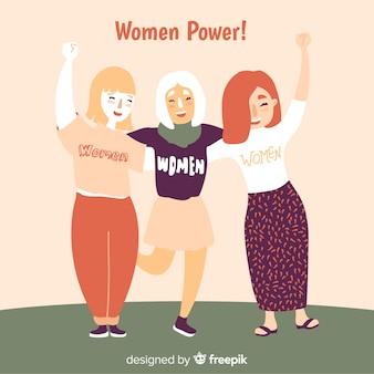 Ręcznie rysowane międzynarodowej grupy kobiet