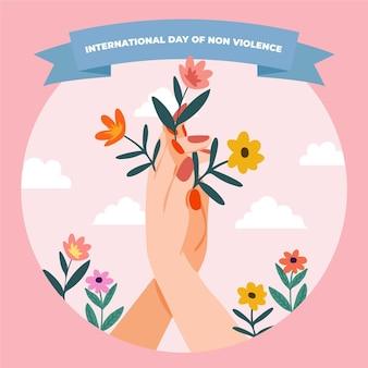 Ręcznie rysowane międzynarodowy dzień bez przemocy