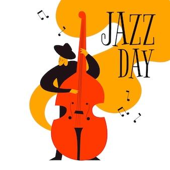 Ręcznie rysowane międzynarodowy dzień jazzu