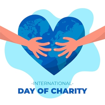Ręcznie rysowane międzynarodowy dzień koncepcji miłości