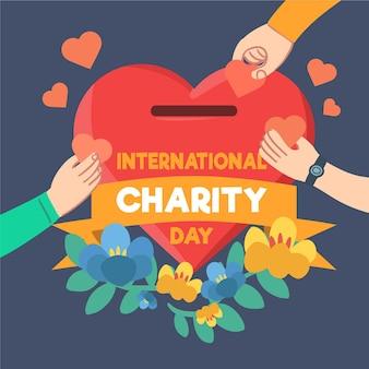 Ręcznie rysowane międzynarodowy dzień miłości