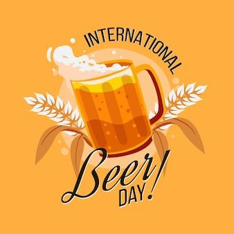 Ręcznie rysowane międzynarodowy dzień piwa
