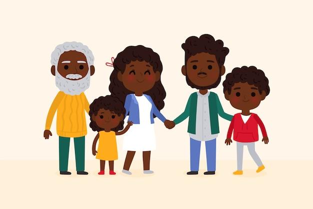 Ręcznie rysowane międzynarodowy dzień rodzin