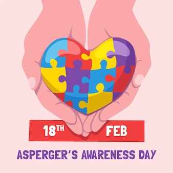 Ręcznie rysowane międzynarodowy dzień świadomości aspergera