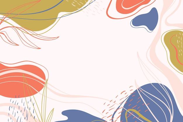 Ręcznie rysowane minimalistyczne tło w stylu