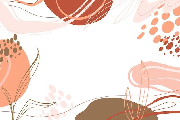 Ręcznie rysowane minimalistyczne tło