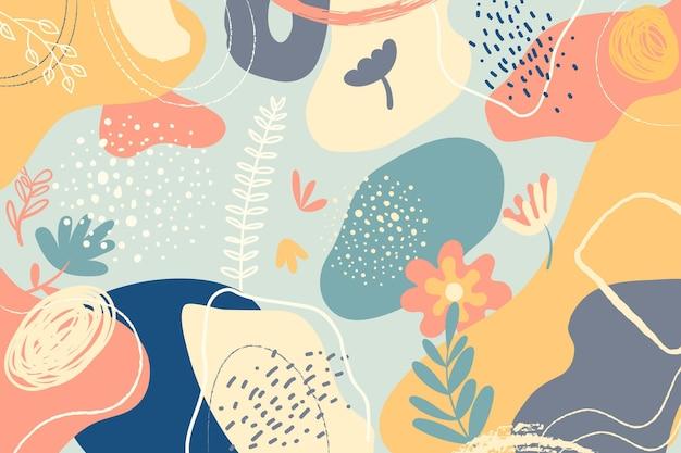 Ręcznie rysowane minimalne kolorowe tło