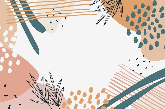 Ręcznie rysowane minimalne tło w stylu