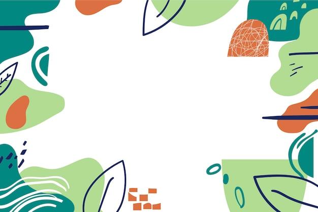 Ręcznie rysowane minimalne tło z pustą przestrzenią