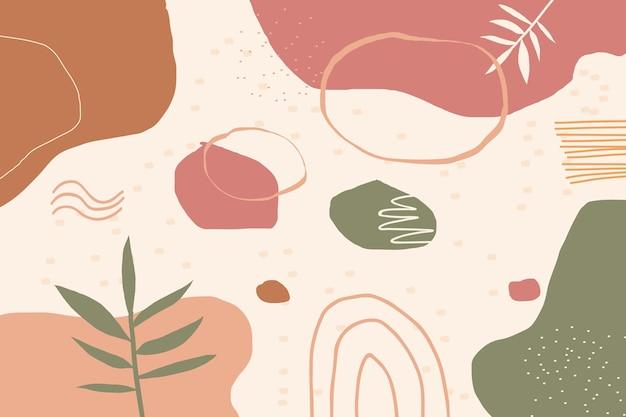 Ręcznie rysowane minimalne tło