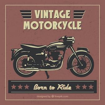Ręcznie rysowane motocykl rocznika tle