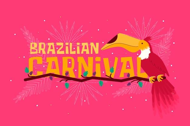 Ręcznie rysowane motyw na dzień karnawału w brazylii