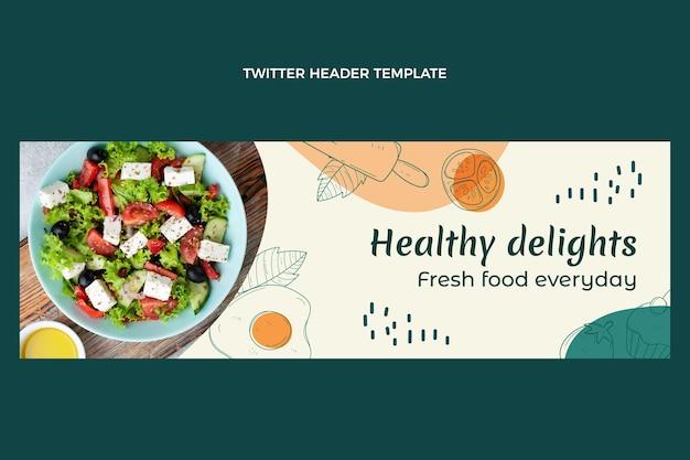 Ręcznie rysowane nagłówek twittera żywności