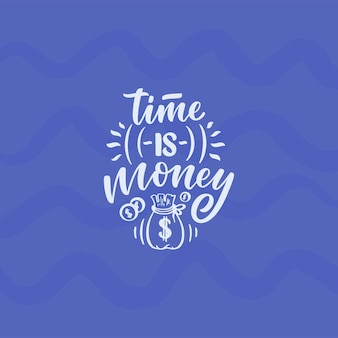 Ręcznie rysowane napis cytat w nowoczesnym stylu kaligrafii o pieniądze. hasło do druku i projektowania plakatów. ilustracja wektorowa