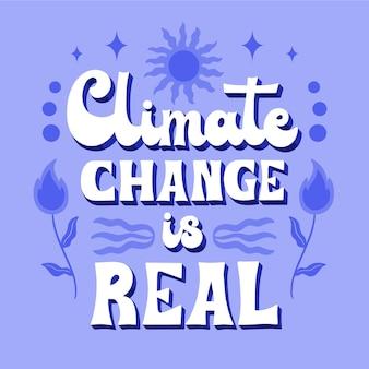 Ręcznie rysowane napis dotyczący zmian klimatu