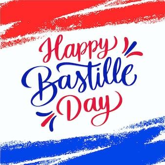 Ręcznie rysowane napis dzień bastylii