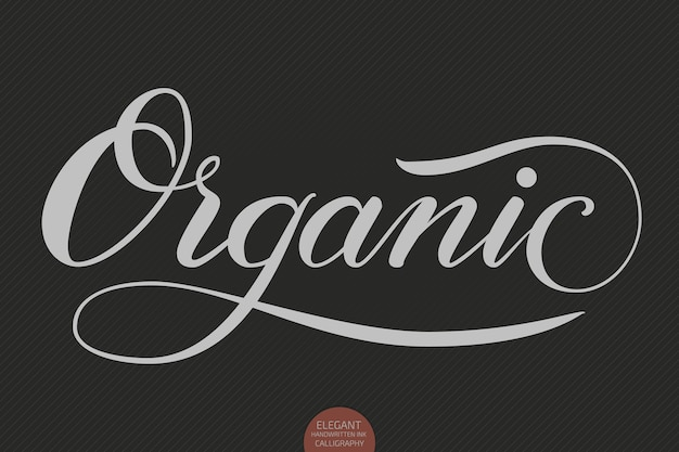 Ręcznie rysowane napis - ekologiczne. elegancka nowoczesna kaligrafia odręczna. typografia atramentowa