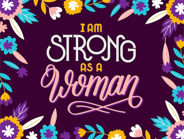 Ręcznie rysowane napis feministyczny