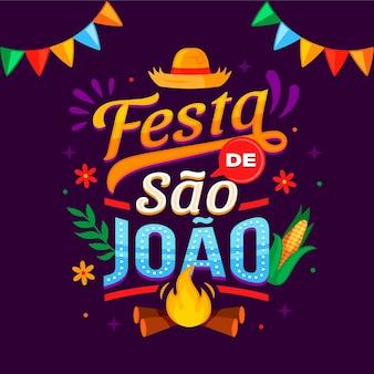 Ręcznie rysowane napis festa de sao joao