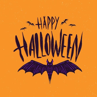 Ręcznie rysowane napis halloween