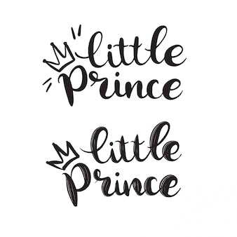 Ręcznie rysowane napis llittle prince