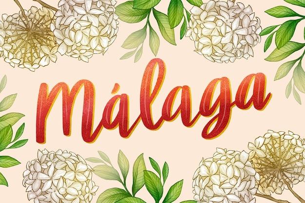 Ręcznie rysowane napis malaga
