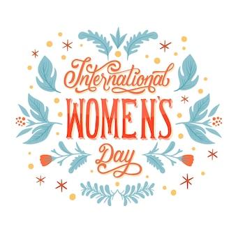 Ręcznie rysowane napis międzynarodowy dzień kobiet