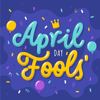 Ręcznie rysowane napis prima aprilis