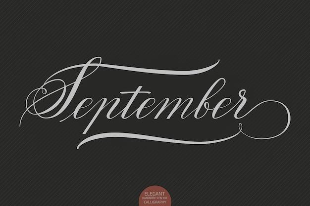 Ręcznie rysowane napis września.