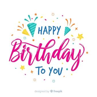Ręcznie rysowane napis z okazji urodzin