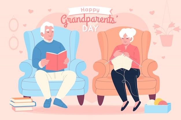 Ręcznie rysowane narodowy dzień dziadków usa